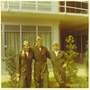 7. With early friends, Rick Campbell, at left, and my roommate  Bob _____, at right. At Saufley Field in September, 1969.