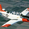 5b. The Navy is now (2013) replacing the T-34 with a new aircraft for flight school, the T-6 Texan, named for the Navy and Air Force trainer of the early 1950s, the SNJ.