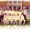 Under 13 Lancs Champions 1974
