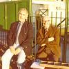Walter Davies & Bill Raidy.  26.08.1981.  Ladies charity cricket match.
