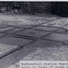 Rawtenstall station wagon turn-table in front of goods shed JD 1960