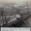 Rawtenstall Duckworth Hall train at crossing JD 197411