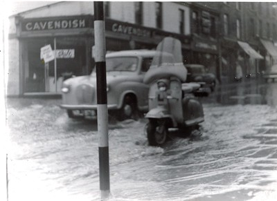 Rawtenstall Flood 1964 Bank Street 2