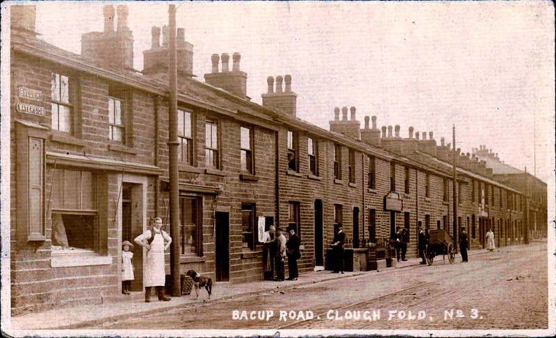 Rawtenstall Cloughfold Bacup Road 1912