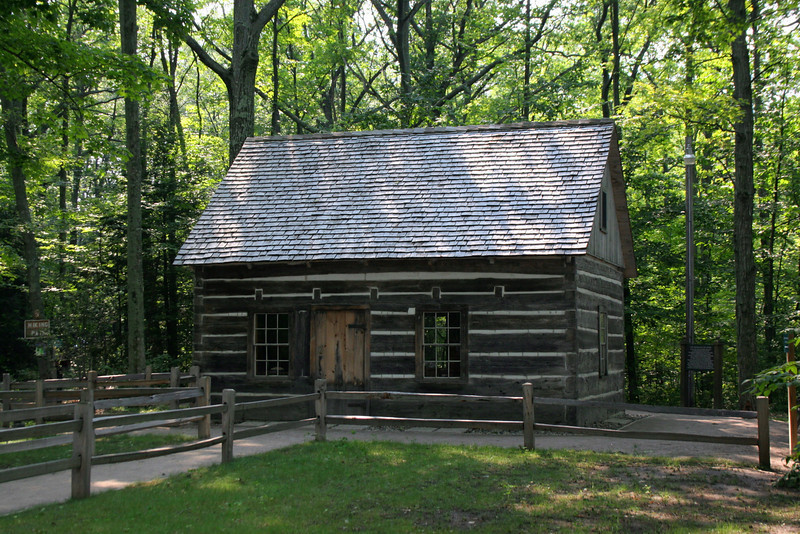 Hesler Log House (ca. 1850's) - Old Mission