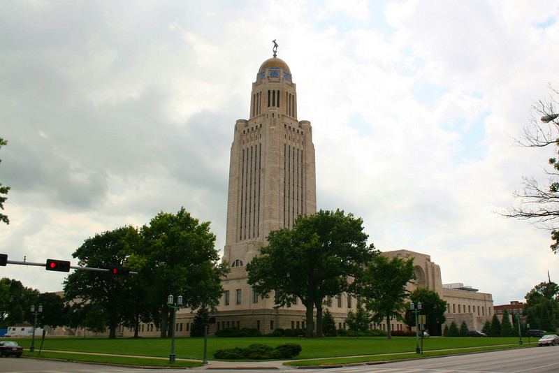 <b>NEBRASKA - Lincoln</b>:  The 400' tower that stands as the state capitol of Nebraska is the second highest in the nation, topped only by the capitol building of Louisiana.  Completed in 1922 it is the third capitol building to stand in this location.  The building is renowned for its impressive artwork.