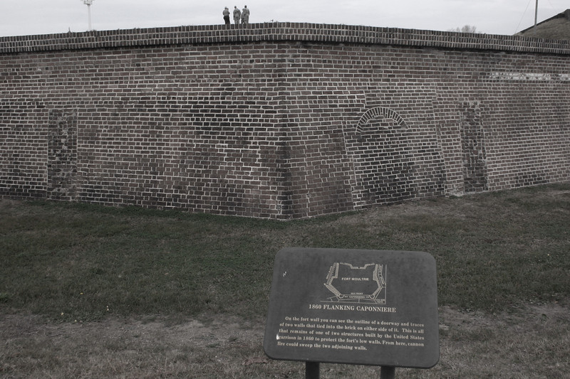 An extension to the walls was built here during the Civil War to provide additional protection from attack...