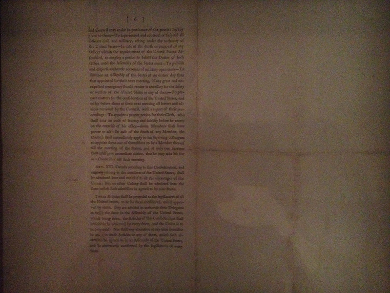 Articles of Confederation - Elbridge Gerry Copy of 2nd Draft (c.1776)