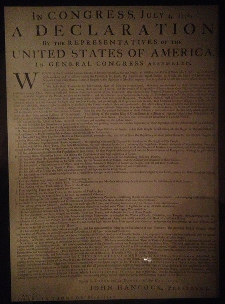 Declaration of Independence - John Nixon Copy (c.1776)