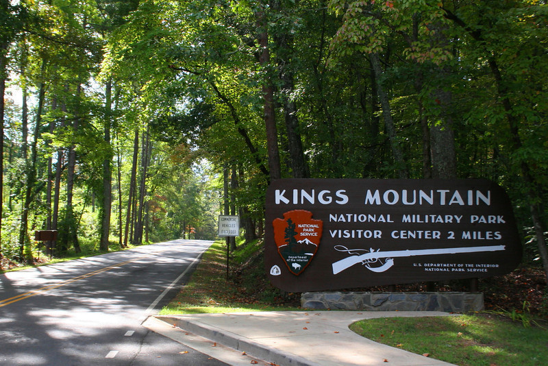 Entering Kings Mountain National Military Park...
