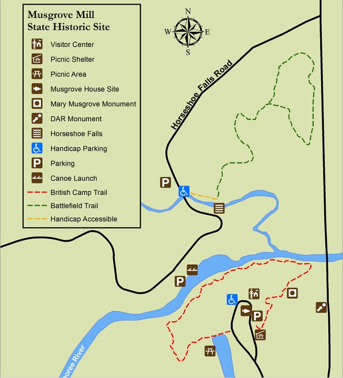 Musgrove Mill State Historic Site Map