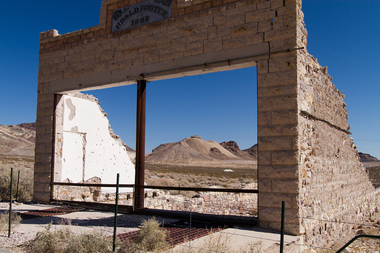 Ghost town of Rhyolite, Nevada<br /> general store