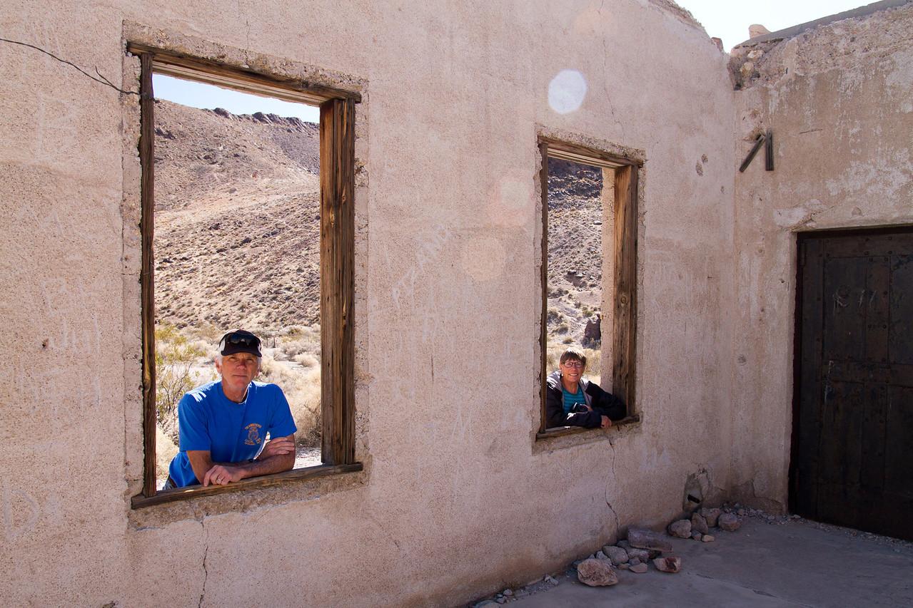 Ghost town of Rhyolite, Nevada<br /> jail