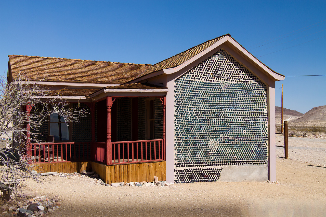 Ghost town of Rhyolite, Nevada<br /> Tom Kelly s Bottle house was raffled off