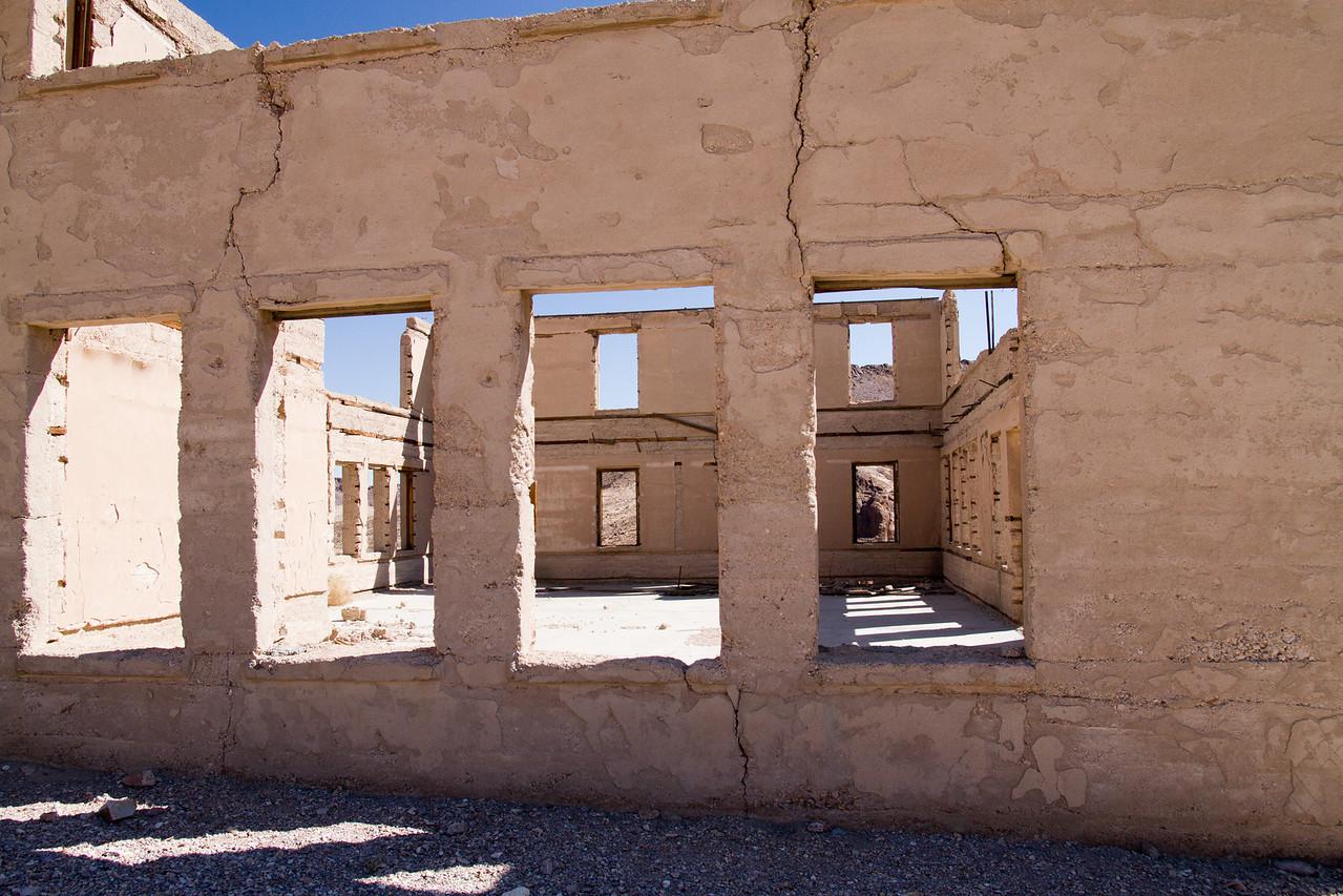 Ghost town of Rhyolite, Nevada<br /> new school
