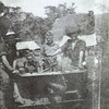 Dumpu, New Guinea. 1944-01. Four members of the 58/59th Australian Infantry Battalion with a two pounder Tank Attack gun.