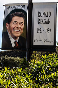 Mr Reagan greets you as you park.
