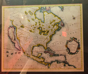 Margaret Thatcher gave this map to Mr Reagan as a gift. It is quite old and was drawn when California was believed to be an island.
