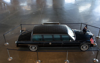 One of Mr Reagan's limos. These were customized for him with taller roofs.