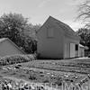 Garden area & adjacent garage; Ronald Reagan boyhood home.