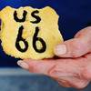 Globe/T. Rob Brown<br /> A Route 66 cookie being shown off by creator Charles Duboise of the Dairy King in Commerce, Okla.
