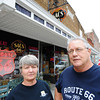 Globe/T. Rob Brown<br /> SACS 66 owners Steve and Cathy Bolek stand in front of their antique store Wednesday afternoon, July 24, 2013, in Baxter Springs, Kan.