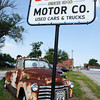 Globe/T. Rob Brown<br /> A Cars-style vehicle at Bulger Motor Co. in downtown Carterville.