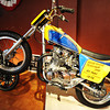 Globe/T. Rob Brown<br /> Many vintage and historic motorcycles, such as this one that jumped 20 cars in Nashville in 1976, are on display at the Route 66 Motorcycle Museum: Vintage Iron in downtown Miami, Okla., on Route 66.