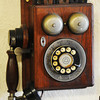 Globe/T. Rob Brown<br /> An antique telephone in SACS 66 in downtown Baxter Springs, Kan.
