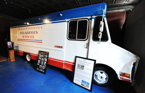 Globe/T. Rob Brown<br /> Evel Knievel's Super Van at the Route 66 Motorcycle Museum: Vintage Iron in downtown Miami, Okla., on Route 66.