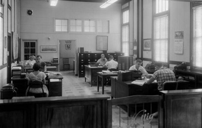 Inside Huttig's Springfield office in 1957. Courtesy of the State Archives of Florida, Florida Memory, http://floridamemory.com/items/show/167226