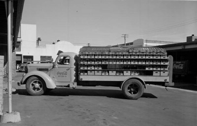 A Coca-Cola truck on the property of the former Mavis Bottling Company. State Archives of Florida, Florida Memory, http://floridamemory.com/items/show/167782