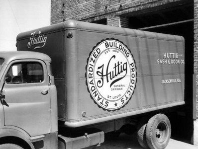 A Huttig truck in 1950. Courtesy of the State Archives of Florida, Florida Memory, http://floridamemory.com/items/show/53239