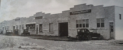 The Mehlas Warehouses in 1926. Courtesy of the Telfair Stockton & Company industrial advertisement.