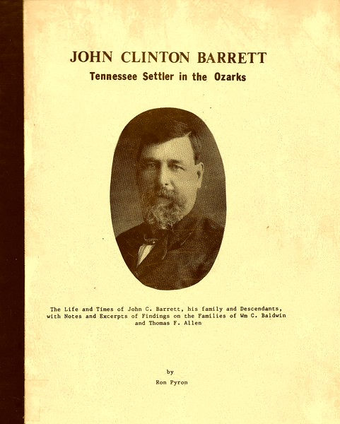1. After we moved to Greeneville, TN in 1977, I started working on my family tree in earnest in 1978. By 1980 I had this 127 page book (with index) printed on my Great-grandfather John C. Barrett, my mom's paternal granddad. I think I paid about $1,000 for about 330 copies. I sold them for $7 until I recovered the cost; since then I've given them away. Still have about 80 copies. Want one?