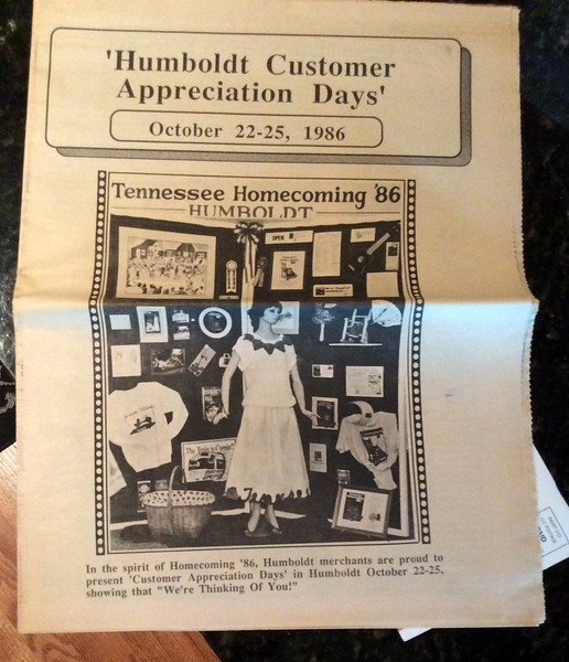 1. I wrote an article for the newspaper in 1986 about what I remembered about downtown Humboldt when I was in high school. The paper put it in this booklet they used for promoting business in town.