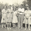 4. While dad was on furlough in about 1943, when he and mom took a fishing trip with some of the folks from Peoples in Humboldt and Kennett, Mo stores.From left, Mildred Freeman, mom, Sam Freeman in back, Mildred's sister and her husband in sunglasses, Mr. Brogden and his wife, with my dad in uniform.