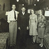 3. Pony Pyron, C.M. Brogden, Mildred Freeman, and unknown.  About 1941 at Peoples Furniture Store in Humboldt.