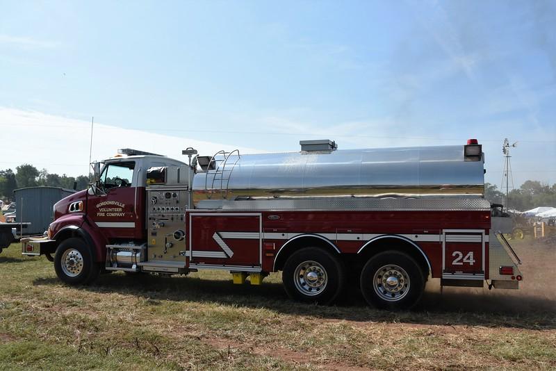 Gordonsville, VA. Fire Dept. hauled water.