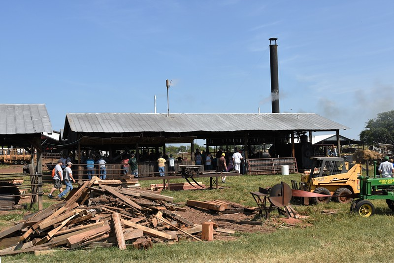 We have a working sawmill in the steam shed.