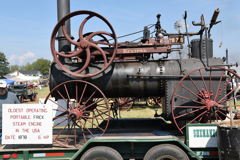 Oldest operating portable Frick steam engine in the USA. 1878, 6 HP.