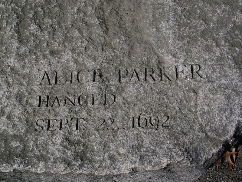 Alice Parker, Salem Town, hanged, September 22, 1692