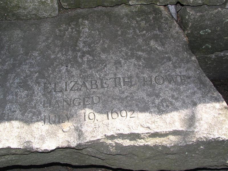 Elizabeth Howe, Ipswich, hanged, July 19, 1692