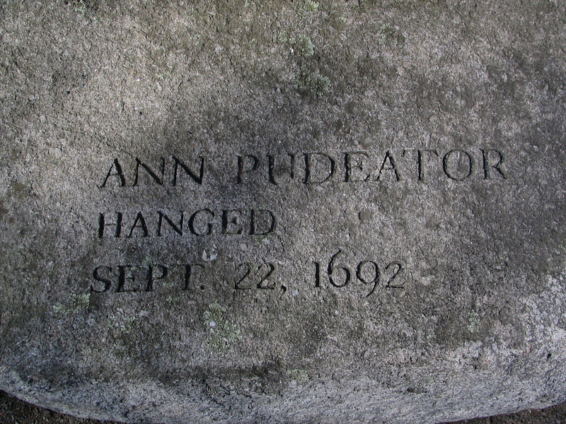 Ann Pudeater, Salem Town, hanged, September 22, 1692
