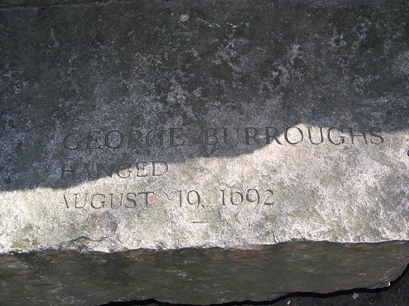 George Burroughs, Wells, Maine (originally a part of Massachusetts) hanged, August 19, 1692