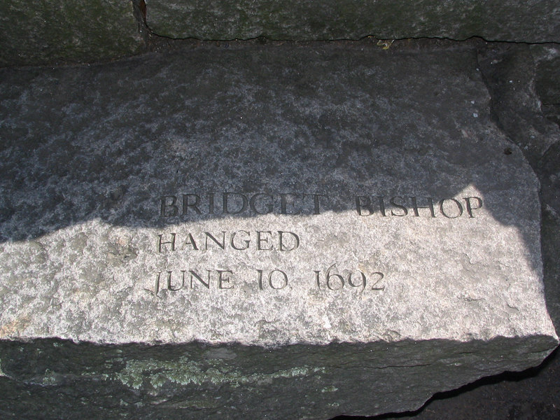 Bridget Bishop, Salem, hanged, June 10, 1692 (the first to be executed)
