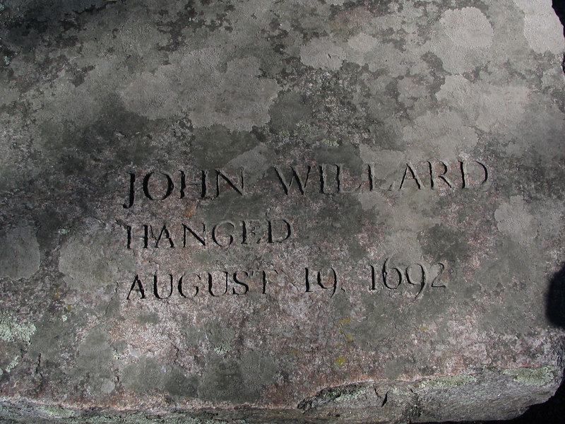 John Willard, Salem Village, hanged, August 19, 1692