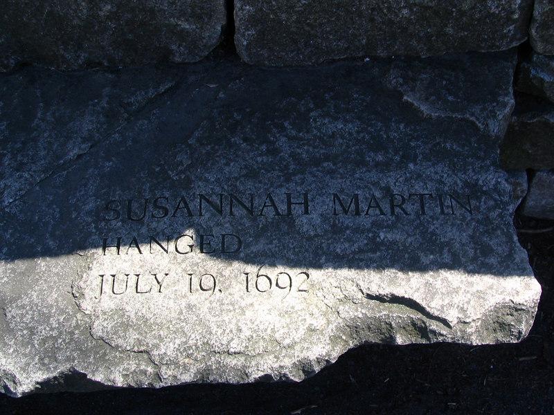 Susannah Martin, Amesbury, hanged, July 19, 1692