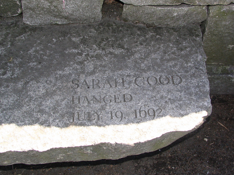 Sarah Good, Salem Village, hanged, July 19, 1692