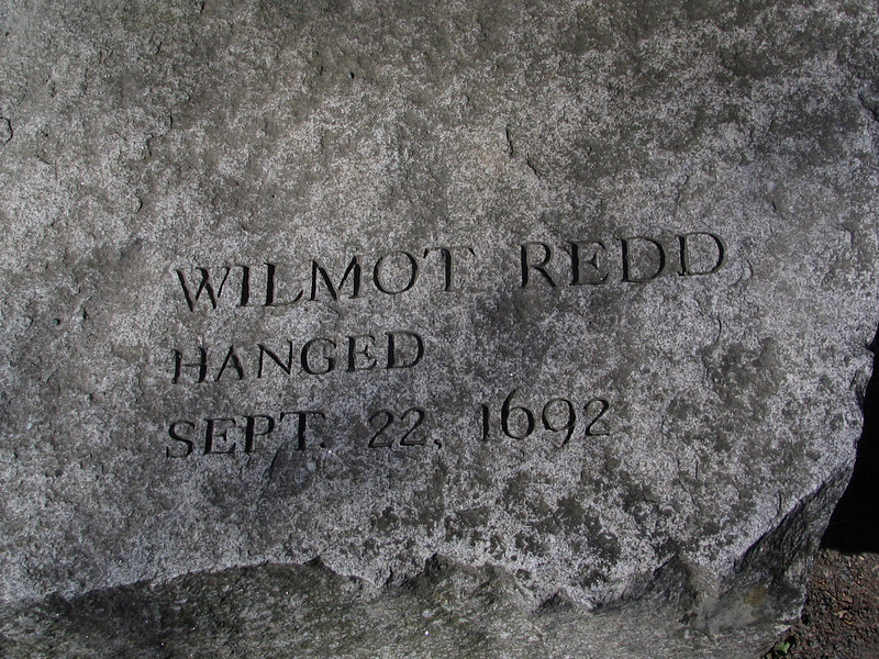 Wilmott Redd, Marblehead, hanged, September 22, 1692